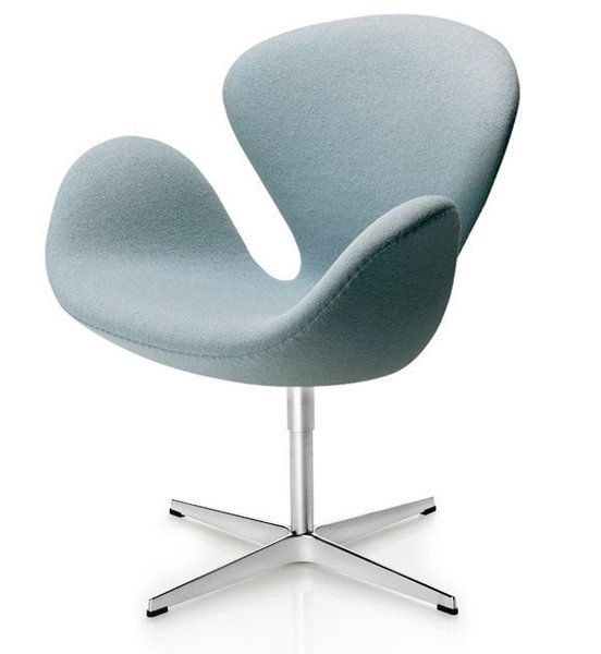 swan chair, light blue. so expensive. $3678