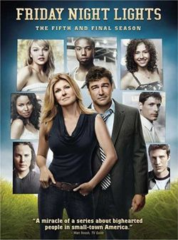final thoughts: i LOVED this show. the camera work took some getting used to. connie britton and kyle chandler were never anything short of amazing. julie taylor was pretty much the most annoying person ever anytime she and matt were broken up, and landry 'lance' clarke was the sweetest guy and if he were a real person, i would totally date him. the series ended really well, and i'll remember it fondly.