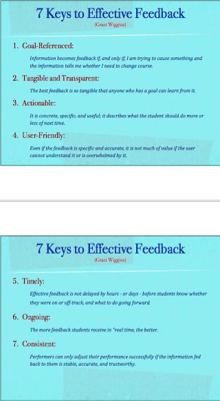 Twitter / ChrisWejr: 7 Keys to Effective Feedback ...