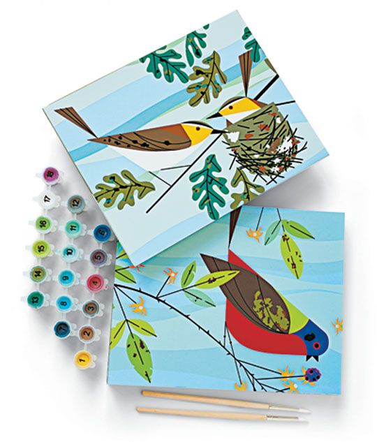 Charley Harper Paint By Numbers: Charlie Harpers, Diy Kits, For Kids, Paintings By Numb, Kids Crafts, Charley Harpers, Todd Oldham, Kids Gifts, Numbers Kits
