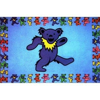 $29.99 - Grateful Dead - Blue Dancing Jerry Bear Tapestry