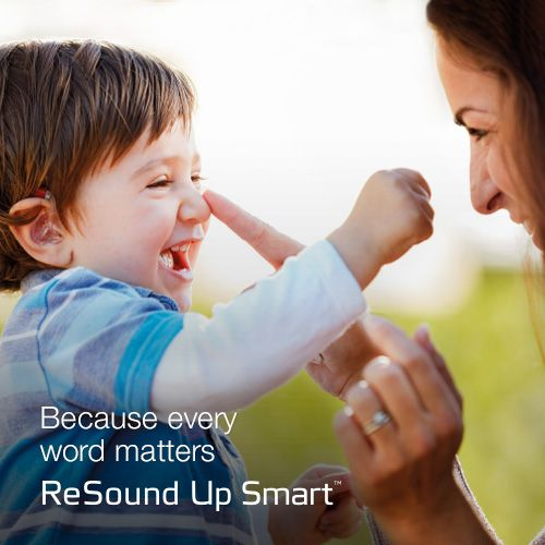 UpSmart - Because every word matters.  Visit resound.com/en-AU/hearing-aids/up-smart