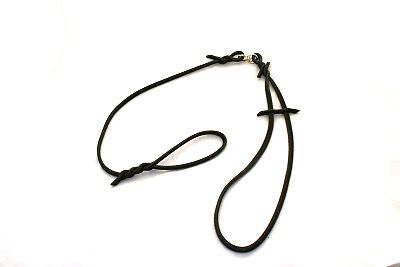 Show leash, dark leather cord