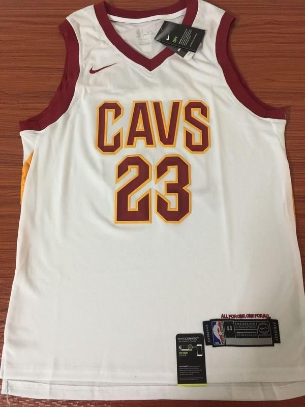 new product a38a5 d8876 Men CAVS 23 Lebron James Jersey White Cleveland Cavaliers ...