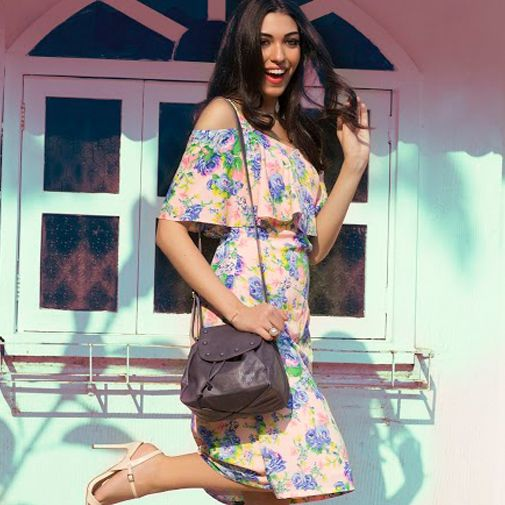 Let loose and get goofy for the camera wearing a floral off-shoulder dress, a pair of killer heels, well-swept hair and don't forget that #slingbag on your shoulder to get you through that lunch date with friends. Available at any Exclusive Baggit stores or www.baggit.com