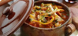This lovely soup makes a filling lunch that's ready in less than half an hour.