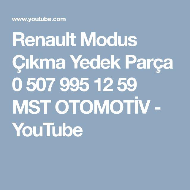 Renault Modus Çıkma Yedek Parça 0 507 995 12 59  MST OTOMOTİV - YouTube