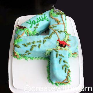 Create With Mom: Dinosaur park 4th birthday cake