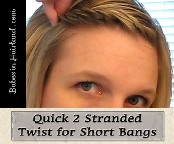 2 Strand Twist for Bangs from BabesInHairland.com  #bangs #twist #easyhairstyle