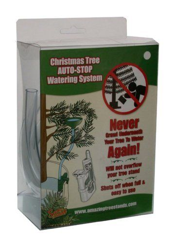 Santa's Solution Auto-Stop Christmas Tree Watering System by Santa's Solution. $16.99. No more climbing under your tree to water it. Will not allow over filling of stand resevoir. No more damaged floors. No more messy spills to clean up. Attaches to side of tree stand or affixes to tree trunk easily. Auto-stop watering system for christmas trees - never climb under your tree to water again.