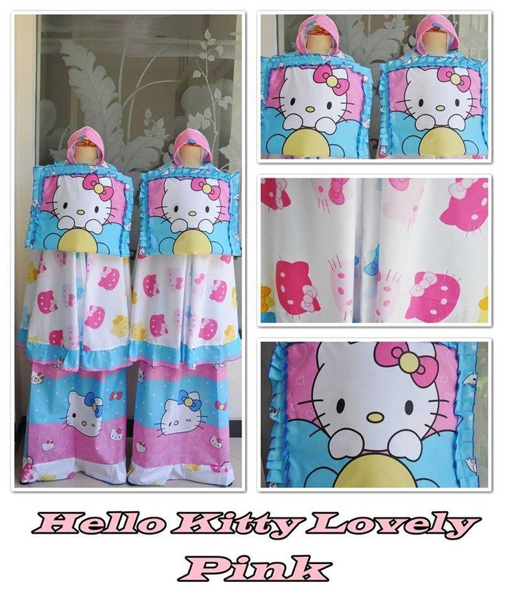 Mukena Anak Lucu Kartun Favorit Hello Kitty Pink