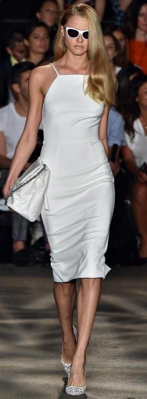 #spring #fashion | All White Runway Style | Christian Siriano Bahar 2015