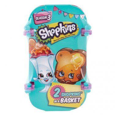 Shopkins Season 3 Mini Figures - 2 Pack of Shopkins Blind Basket - #56029 (x10)