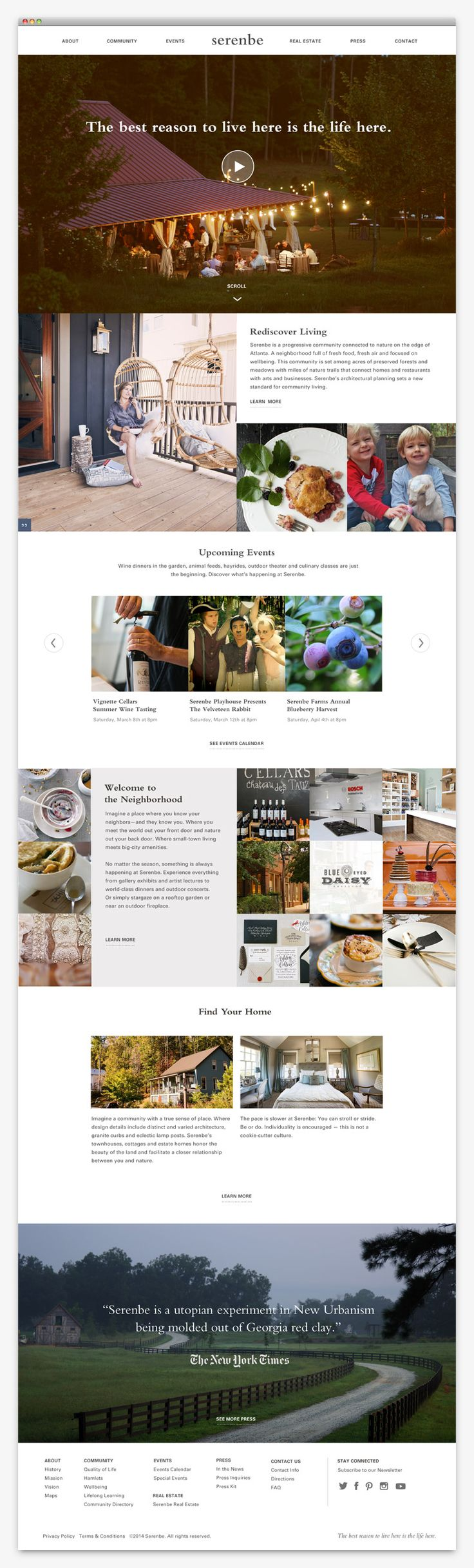 serenbe website design by apartment one