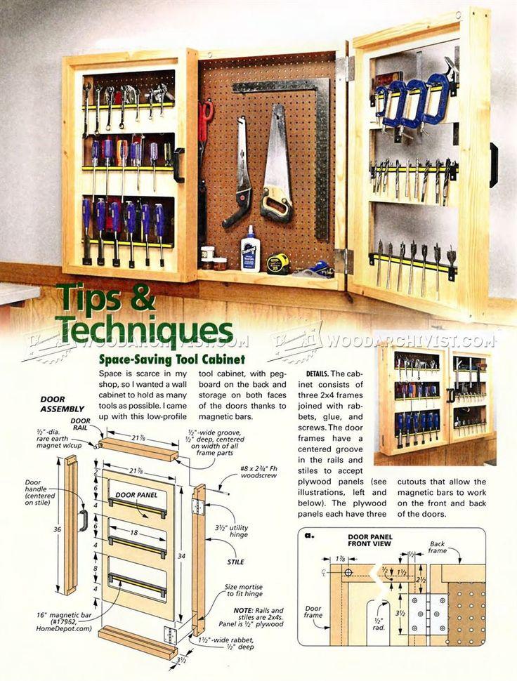 Pegboard tool cabinet plans workshop solutions plans for Garage design tool