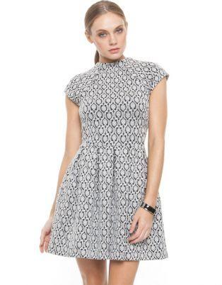 NICHOLAS 'Persian Hearts' Pleat Dress