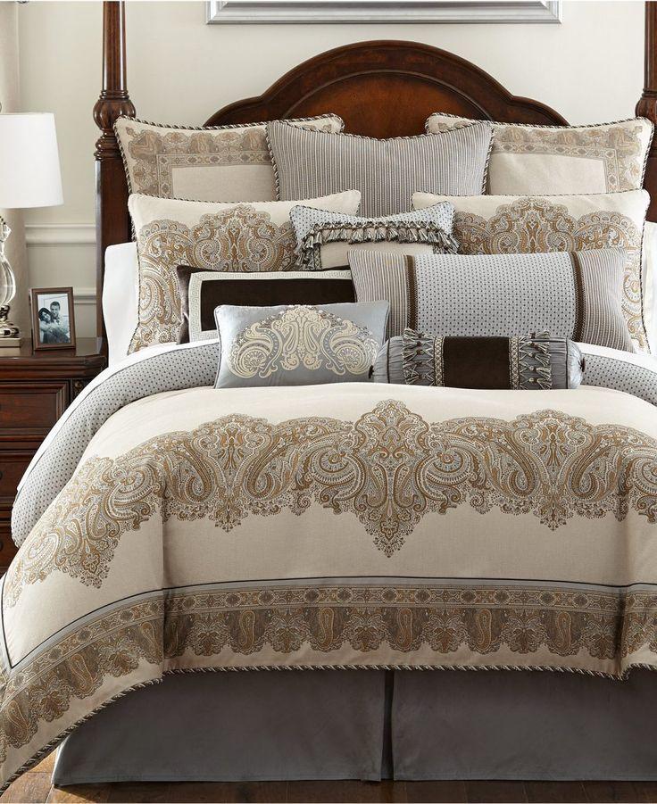 Bedroom Decor:Mens Comforter Sets Blue And White Bedding Bed In A Bag Modern Queen Size Comforter Sets