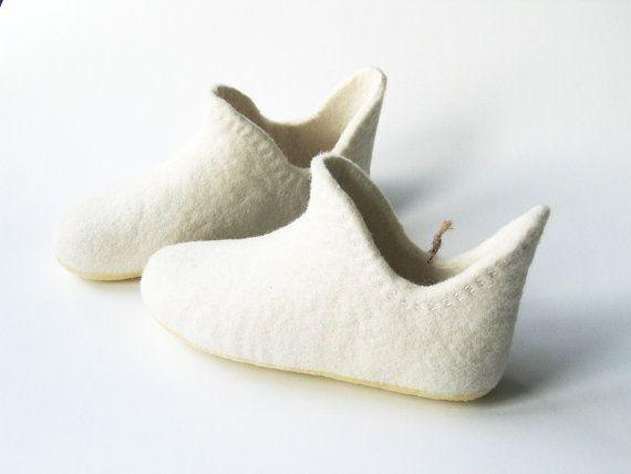 White swanWhite home slippersWhite high by kristinalauciuviene, $60.00