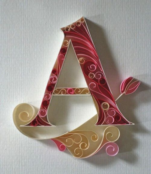 Indian artist and typographer Sabeena Karnik has created a gorgeous 3D typeface using strips of colorful paper.