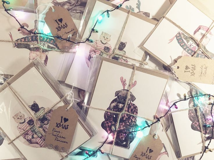 Christmas cards for delivering