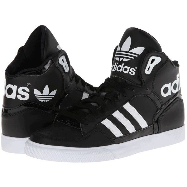 adidas Originals Extaball W ($75) ❤ liked on Polyvore featuring shoes, sneakers, sneakers & athletic shoes, hi tops, lace up shoes, adidas originals, high top sneakers and adidas originals trainers