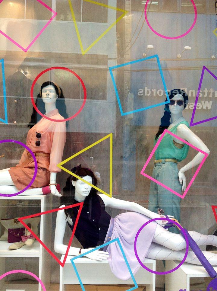 American Apparel windows Spring 2013 by Lena Shockley, Japan visual merchandising