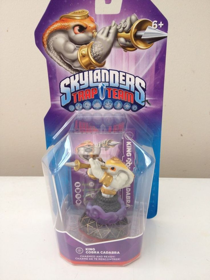 Skylanders Trap Team - King Cobra Cadabra - BNIB http://www.ebay.com.au/itm/Skylanders-Trap-Team-King-Cobra-Cadabra-BNIB-/111986195277?ssPageName=STRK:MESE:IT