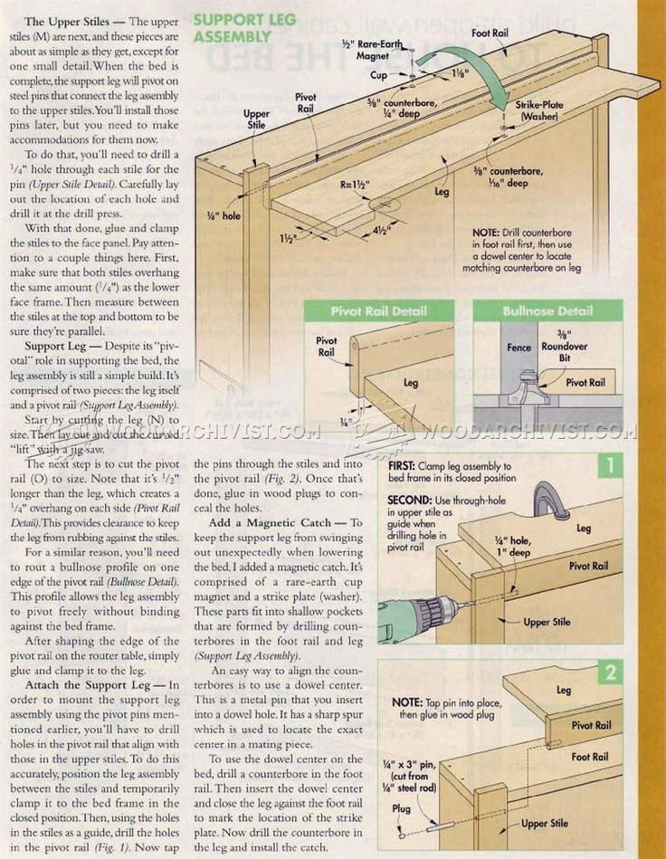 2932 murphy bed plans furniture plans carpinter a y. Black Bedroom Furniture Sets. Home Design Ideas