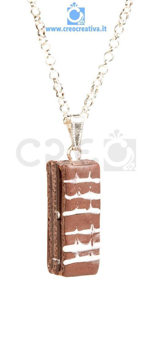 #Kinder Colazione Più | #collana #handmade #madeinitaly #fimo #creo #creocreativa