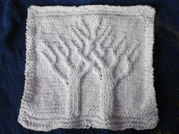 Knitting On Trees In Greasby : Two trees knit washcloth pictures of and celtic knots