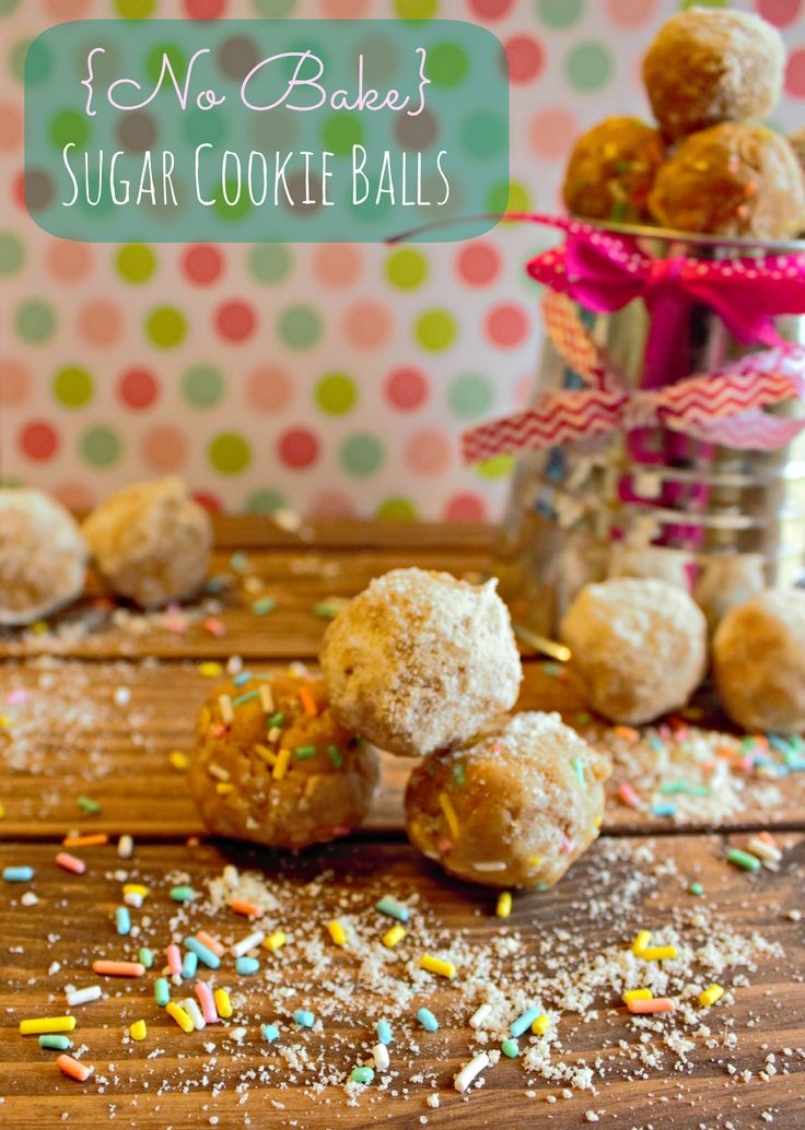 (No Bake) Sugar Cookie Balls | Chelsea's Messy Apron