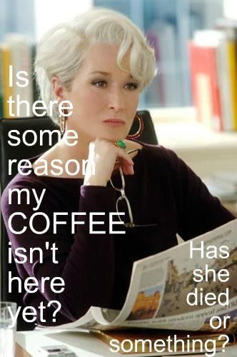 This is me when I hit the 3pm wall at work and want someone to bring me good coffee....