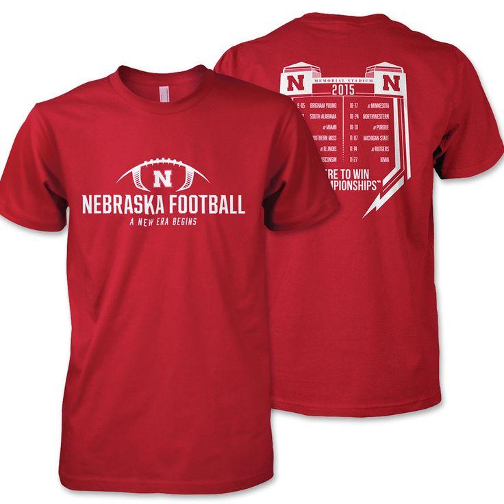2015 Nebraska Huskers Schedule Tee - SS - Red
