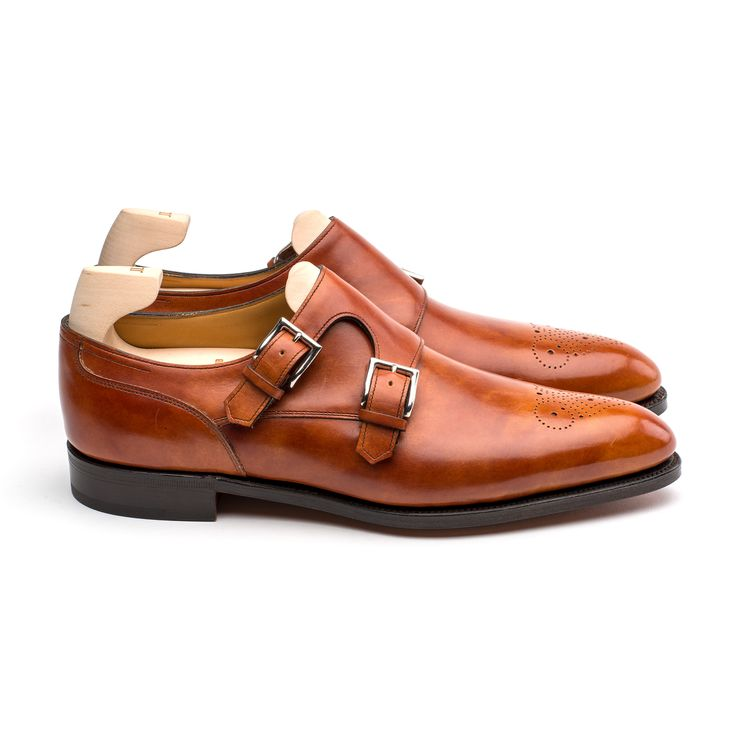 John Lobb's classic double buckle, Camberley, on the  contemporary 2511 last features an eye-catching  toe punch design