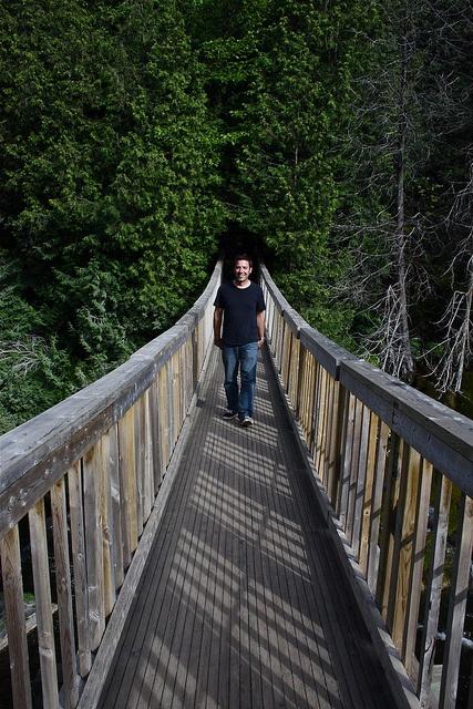 James on a bridge!!