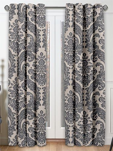 Montague Pewter Curtains from Curtains 2go