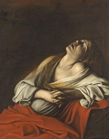 caravaggio. Marie Madeleine en extase 1608