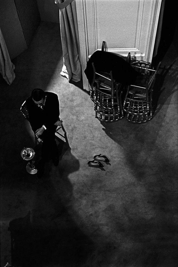 Yves Saint Laurent in Paris, 1961. Photo: Jerry Schatzberg.
