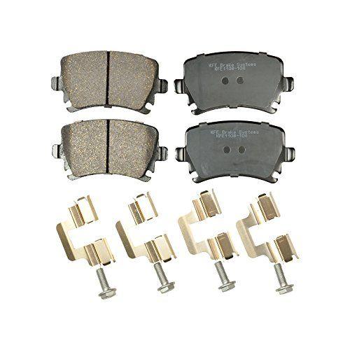 KFE Ultra Quiet Advanced KFE1108-104 Premium Ceramic REAR Brake Pad Set. For product info go to:  https://www.caraccessoriesonlinemarket.com/kfe-ultra-quiet-advanced-kfe1108-104-premium-ceramic-rear-brake-pad-set/