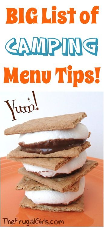 BIG List of Easy Camping Menu Tips! ~ from TheFrugalGirls.com ~ you'll love these delicious camping food recipe ideas for your next camp or RV trip! #recipes #thefrugalgirls