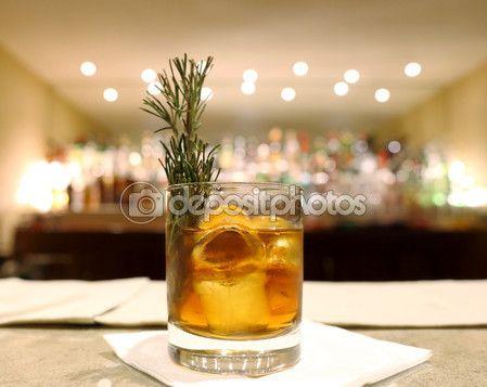 Smoked rosemary coktail — Immagini Stock #56848761