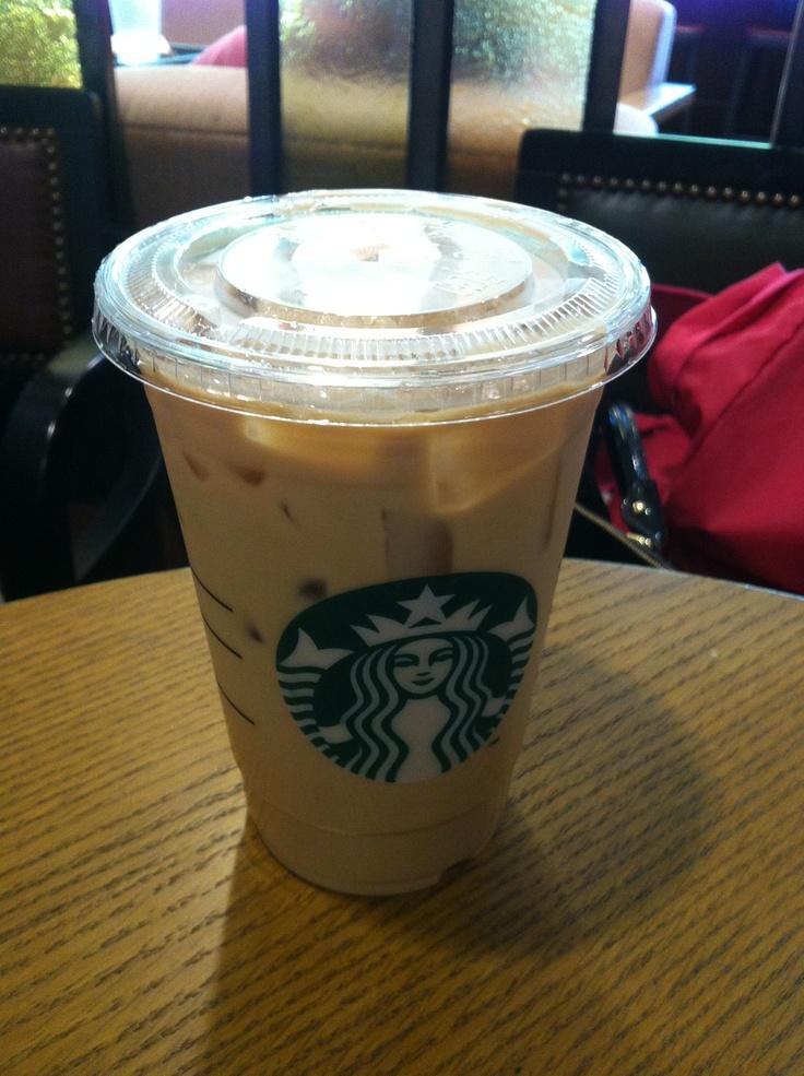 Vanilla latte in starbucks