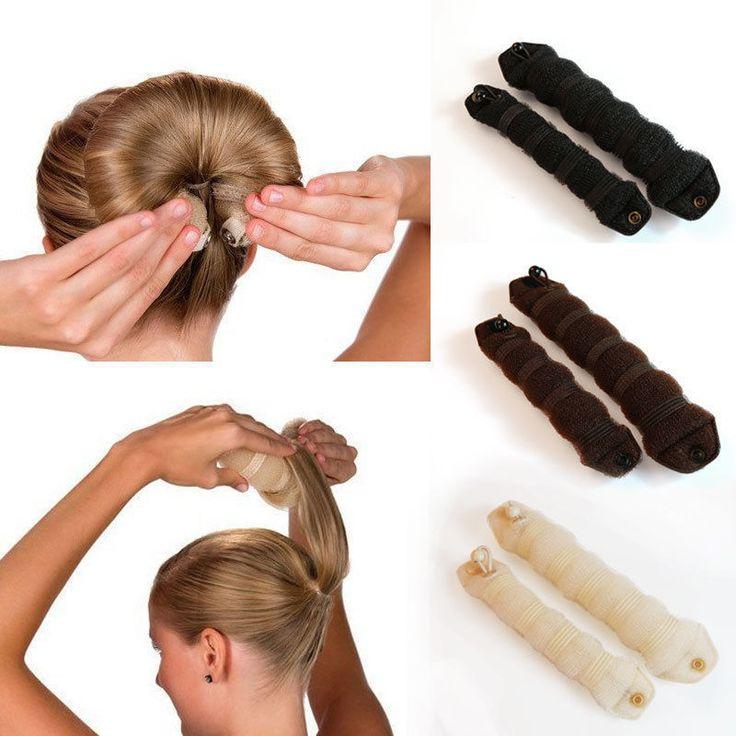 LNRRABC 2 stuk vrouwen Magic Foam Spons Haar Stylin Hairdisk Accessoires Haar Apparaat Donut Quick Messy Bun Opgestoken Sieraden