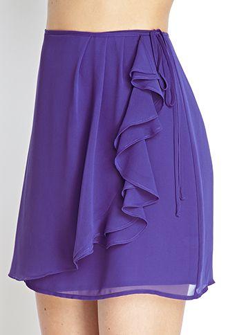 Chiffon Ruffled Wrap Skirt | FOREVER 21 - 2000069448
