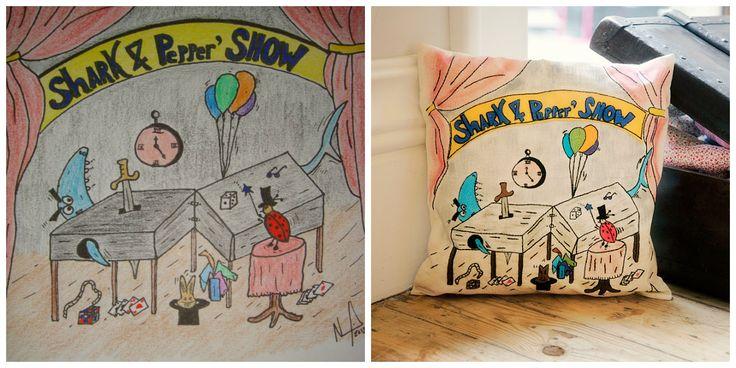A Dream Pillow da Joaninha e do Tubarão_