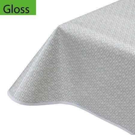Oilcloth Tablecloth Diamond Grey