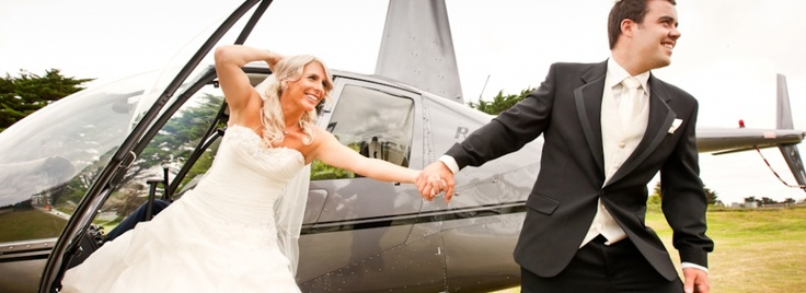 How great would it be going to or leaving your wedding by helicopter? Barwon Heads Resort