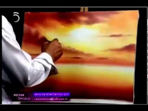 sihirli palet rüstem yılmaz at resmi yağlı boya tekniği ile yapılması - YouTube