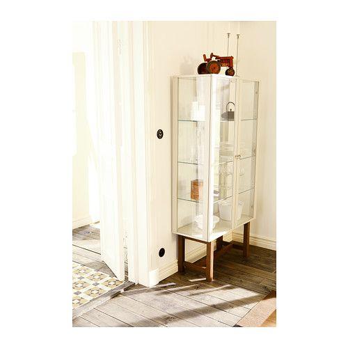 STOCKHOLM Skab med vitrilåger - beige - IKEA