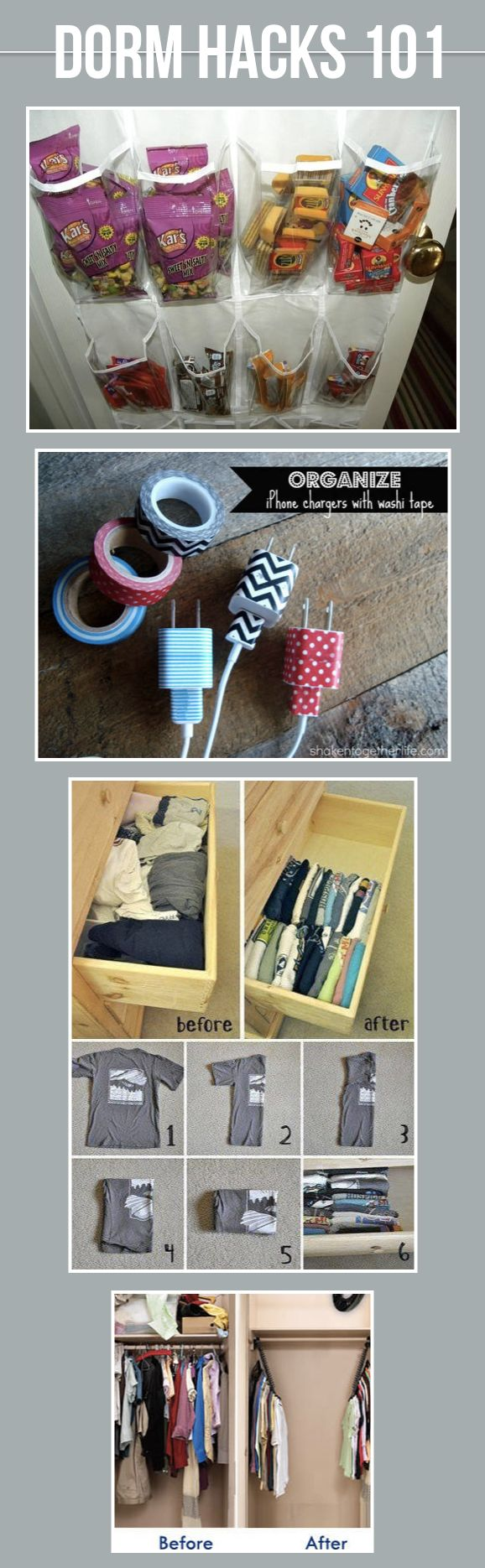 19 Must Know Dorm Hacks to Make Your College Life a Little Bit Easier!